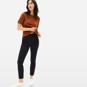 Everlane The Side Zip Stretch Cotton Black Crop Pants